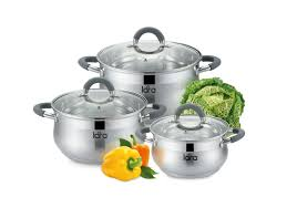 Lara Набор посуды Bell promo <b>кастрюли 1.9 л</b> 3.6 л 6.1 л+ чайник ...
