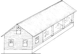 Farm structures       Ch Animal housing  Cattle housing  Summary Figure   A closed end brooder and growing house