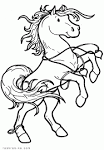 Раскраска про коней