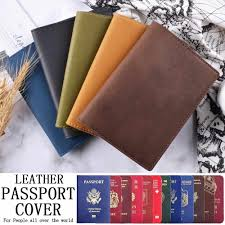 <b>New</b> Arrivals 100% Genuine Leather <b>Passport Cover</b> Solid Credit ...