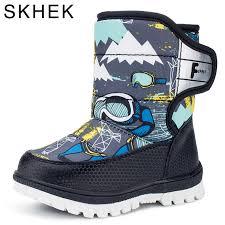 Skhek <b>2018</b> Snow Boots Kids <b>Winter</b> Boots Boys Waterproof Shoes ...