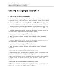 catering manager resume getessay biz events manager sample resume for catering manager catering manager job description by hrvinet in catering manager