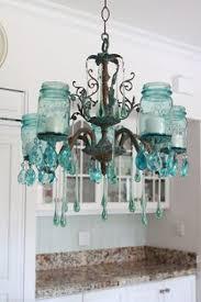 diy vintage chandelier with aqua crystals and mason jars gorgeous diy vintage mason jar chandelier