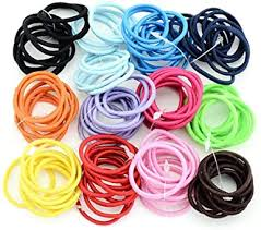 LEANO 100Pcs Girls Stretchy Rubber Band Hair ... - Amazon.com
