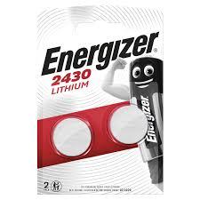 <b>Батарейки ENERGIZER</b>, CR <b>2430</b>, литиевые, КОМПЛЕКТ 2 шт ...