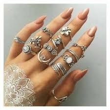 <b>Retro</b> Style <b>Silver</b>-<b>tone</b> Alloy Ring Set <b>10 pcs</b>/Set in 2019   Fashion ...