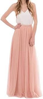 Omelas Womens <b>Long</b> Floor Length <b>Tulle Skirt High</b> Waisted Maxi ...