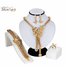 <b>MUKUN 2019</b> Fashion jewelry set Necklace Ring Bracelet Earring ...