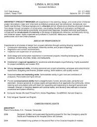 architect resume architect sample resume cover letter gallery of sample architect resume