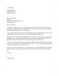 resignation letter format awesome resignation letters for resignation letter format william wallace resignation letters for teachers edmonton montgomery joyce bucknor principal white