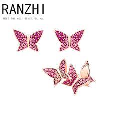 2018 Ranzhi <b>Swa Original High Quality Swa</b> Pierced Earrings Color ...