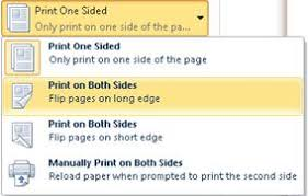 <b>Print</b> on both sides of the paper (<b>duplex printing</b>) in Word - Word