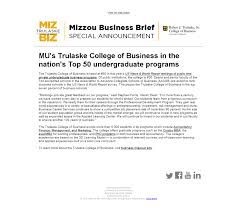 informatio > notice > mu s trulaske college of business in the mu s trulaske college of business in the nation s top 50 undergraduate programs