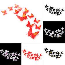 <b>12pcs</b> 3d butterfly <b>sticker art design</b> decal wall <b>sticker</b> for home room ...