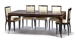 art deco draw leaf dining table and six side chairs set of 7 art deco dining 7
