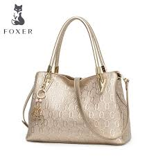 <b>FOXER Brand Women'S Cow</b> Leather Shoulder Bags New Design ...