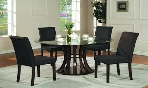 Hickory Dining Room Table Dining Terrific Dining Room Interior Design With Round Glass Top