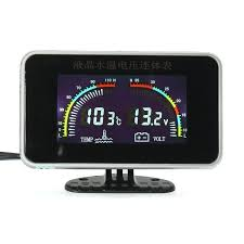 <b>12</b>/<b>24V</b> Car <b>Universal LCD</b> 2 in 1 Gauge Electronic Digital Gauges ...