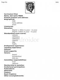 preparing a cv tk category curriculum vitae