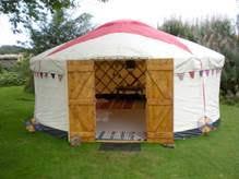 Image result for garden yurt