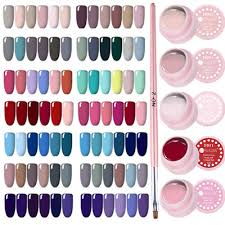 <b>7Pcs</b>/<b>Set Color</b> Red Soak Off UV <b>Gel Polish</b> Nail Art Varnish Brush ...