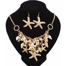 Best Selling Starfish Jewellery sets Charms Imitation Pearl Shell ...