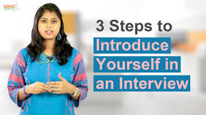 3 steps to introduce yourself in an interview it careers