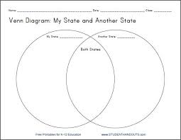 my state venn diagram printable worksheet for grades       compare and contrast my state   another state   printable venn diagram worksheet for geography students