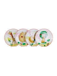 """<b>Набор из 4 тарелок</b> """"Животные"""" 20,5 см Olaff 9782289 в ..."""