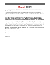 leading professional security guard cover letter examples security guard cover letter sample