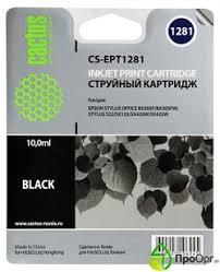 Струйный <b>картридж</b> Cactus CS-EPT1281 (<b>C13T12814011</b> ...