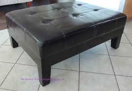 i started with a clean faux leather ottoman can you paint leather furniture