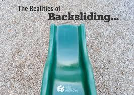 Image result for backsliding