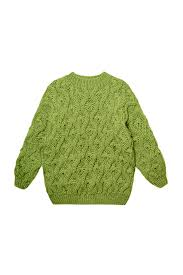 Handmade wool sweater with <b>flower pattern</b> - mirstores