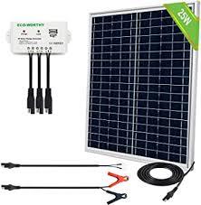 ECO-WORTHY <b>12V Solar</b> Battery <b>Charger</b> Kit: Waterproof 25W ...