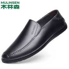 Mulinsen Shoes <b>Leather</b> Suede <b>Leather Soft Bottom</b> Shoes Korean ...