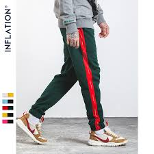 INFLATION 2019 Mens Sweatpants Side Stripe Letter Printing ...
