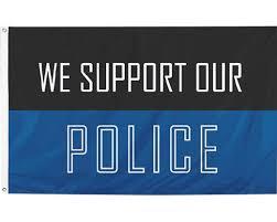 Image result for blue police flag