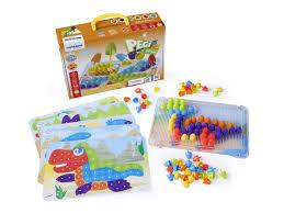 <b>Мозаика Miniland</b>, <b>Pegs</b> 20 мм в чемоданчике купить в детском ...