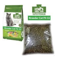iCats Breeder <b>Cat Fit</b> 32 <b>Cat</b> Food 1KG REPACK | Shopee Malaysia