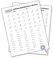 Mixed Multiplication & Division Drill - WorksheetWorks.com
