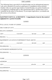 rental agreement letter templates premium machinery rental agreement letter