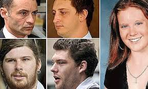 Brodie Panlock, right, and the men convicted and fined for their relentless bullying, clockwise from top left: Marc Luis Da Cruz, Nicholas Smallwood, ... - brodiepanlock420-420x0