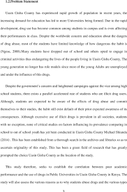 INFLUENCE OF DRUG ABUSE ON STUDENTS ACADEMIC PERFORMANCE IN PUBLIC     Despite the worldwide concern and education about the dangers of drug abuse  most of the