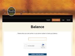 Tullys Coffee | Gift Card Balance Check | Balance Enquiry, Links ...