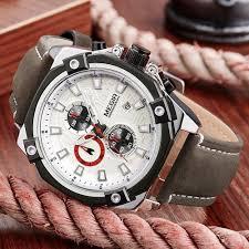 luxury military men quartz watch fashion waterproof sport watches megir male casual leather strap business wrist