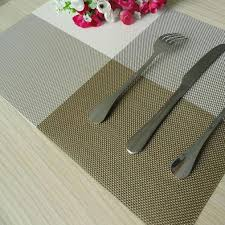 resistant pad dining table mats plastic bowls pvc dining table mat disc pads bowl