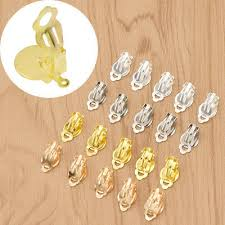 50pcs Gold Silver Clip On Earring Jewelry <b>Making</b> Findings Backing ...