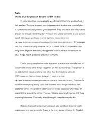 english essay assignment   topic effects of under pressure to work hard