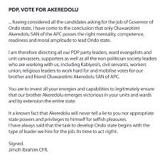 ondo election trending photos vanguard news only akeredolu possess the right mentality competence readiness and moral amplitude to lead ondo